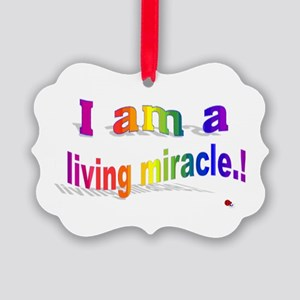 A Living Miracle Picture Ornament