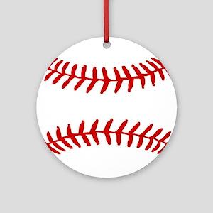 Baseball Laces Square Ornament (Round)
