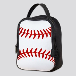 Baseball Laces Square Neoprene Lunch Bag