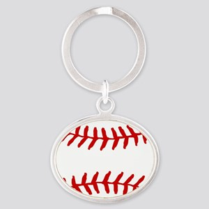 Baseball Laces Square Keychains