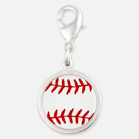 Baseball Laces Square Charms