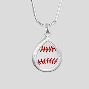 Baseball Laces Square Necklaces