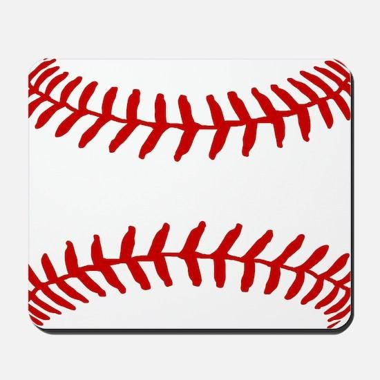 Baseball Laces Square Mousepad
