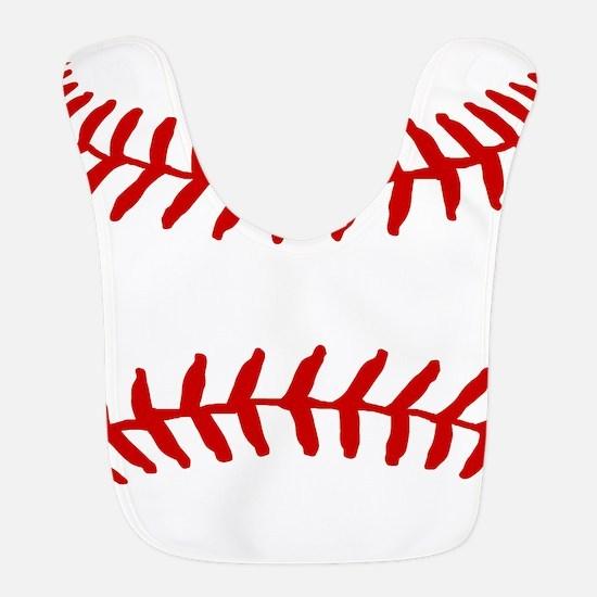 Baseball Laces Square Bib