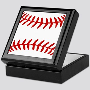 Baseball Laces Square Keepsake Box