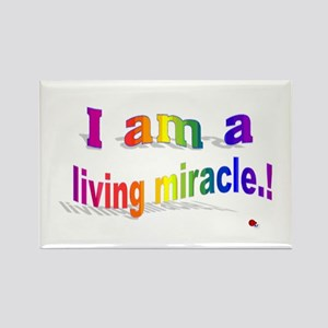 A Living Miracle Rectangle Magnet