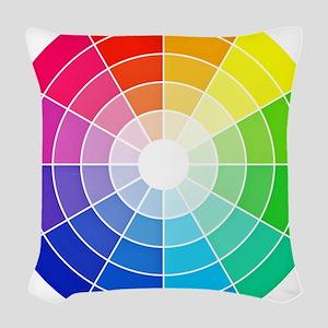 color wheel Woven Throw Pillow
