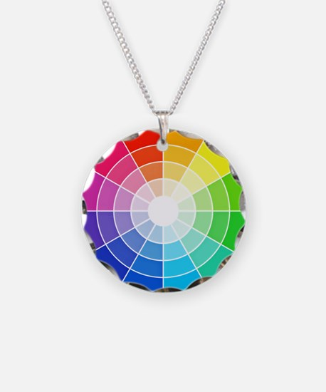 color wheel Necklace Circle Charm