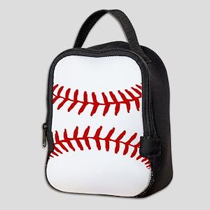 Baseball Bed Pillow Neoprene Lunch Bag