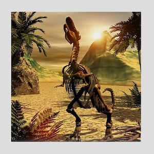 Tyrannosaurus skeleton Tile Coaster