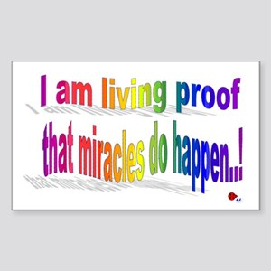 A Living Miracle Sticker (Rectangle)