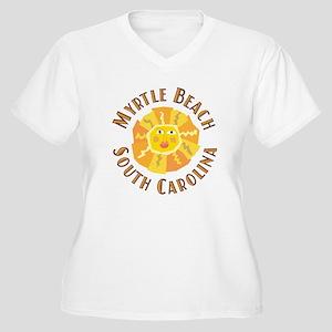 Myrtle Beach Sun - Women's Plus Size V-Neck T-Shi