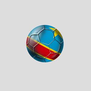 DR Congo Soccer Ball Mini Button