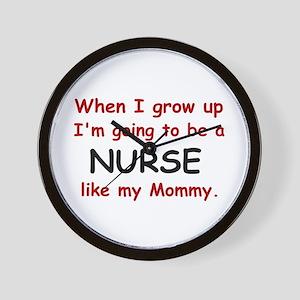 Nurse (Like My Mommy) Wall Clock