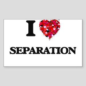 I Love Separation Sticker