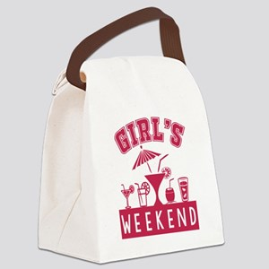 Girl's Weekend Canvas Lunch Bag