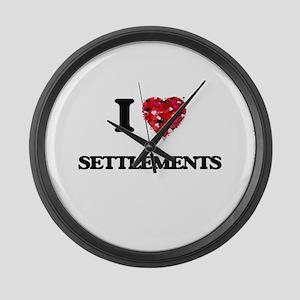 I Love Settlements Large Wall Clock