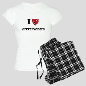 I Love Settlements Women's Light Pajamas
