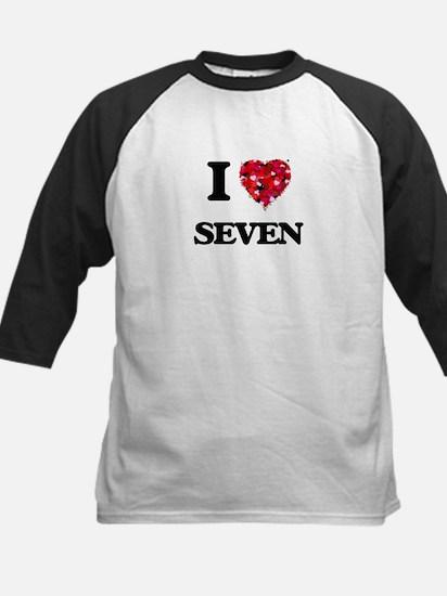 I Love Seven Baseball Jersey