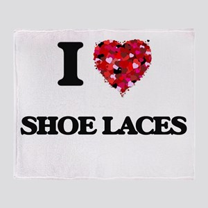 I Love Shoe Laces Throw Blanket