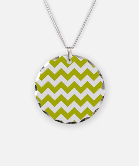Chartreuse Green Herringbone Necklace