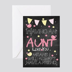 Aunt birthday greeting cards cafepress aunt chalkboard birthday card greeting cards m4hsunfo