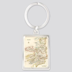 County Kerry Map - Portrait Keychain