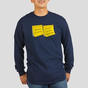 Messy Desk Long Sleeve Dark T-Shirt