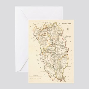 County Kilkenny Map - Greeting Card