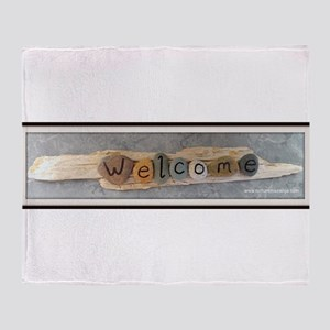 Welcome on Driftwood Throw Blanket