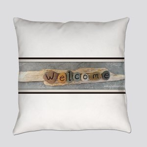 Welcome on Driftwood Everyday Pillow