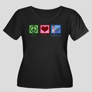 Peace Love Psychology Plus Size T-Shirt