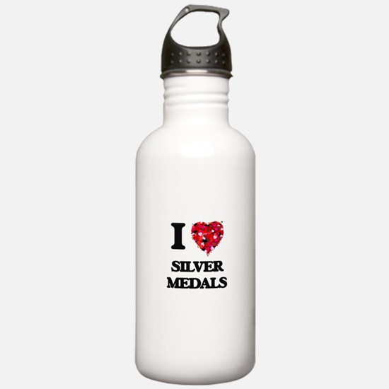 I Love Silver Medals Water Bottle