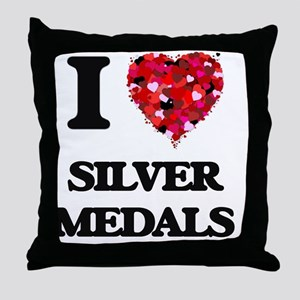 I Love Silver Medals Throw Pillow