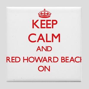 Keep calm and Fred Howard Beach Flori Tile Coaster