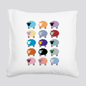 Sheeple Square Canvas Pillow