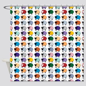 Sheeple Group Shower Curtain