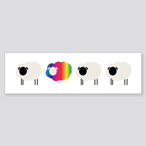 rainbow sheep Bumper Sticker