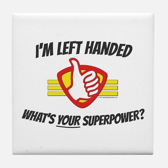 L H Superpower Tile Coaster