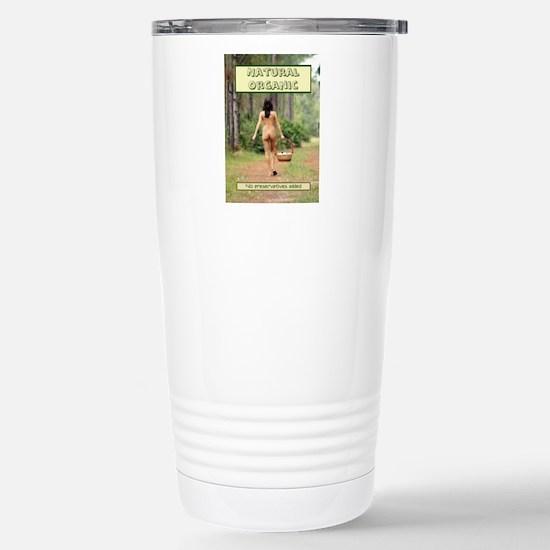 Natural Organic Nude Br Stainless Steel Travel Mug