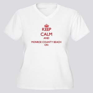 Keep calm and Monroe County Beac Plus Size T-Shirt