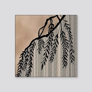 "Pinstripes, Willow, and Clo Square Sticker 3"" x 3"""