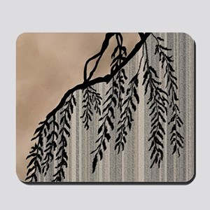 Pinstripes, Willow, and Clouds Mousepad