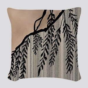 Pinstripes, Willow, and Clouds Woven Throw Pillow