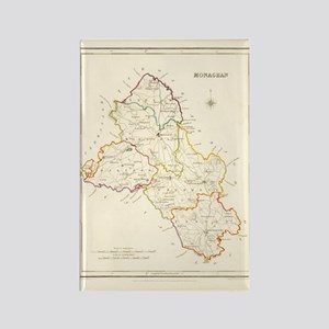 County Monaghan Map - Rectangle Magnet Magnets