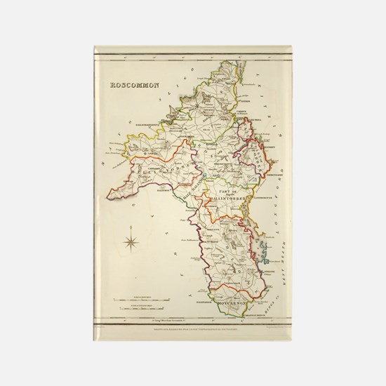 County Roscommon Map - Rectangle Magnet