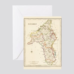 County Roscommon Map - Greeting Card