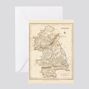 County Tipperary Map - Greeting Card