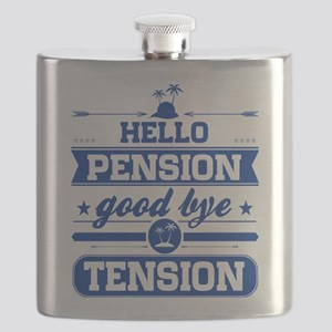 Hello Pension Goodbye Tension Flask