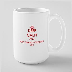 Keep calm and Port Charlotte Beach Florida ON Mugs